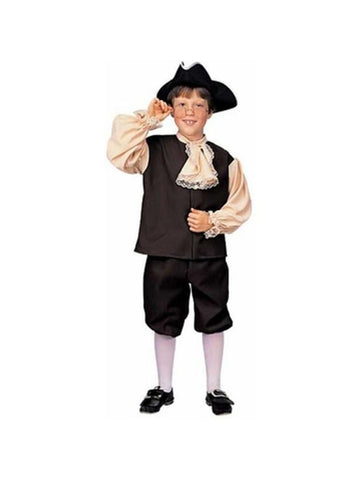 Childs Deluxe Colonial Boy Costume