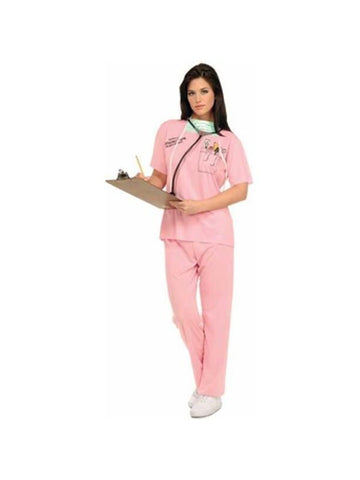 Adult Pink Nurse Costume-COSTUMEISH