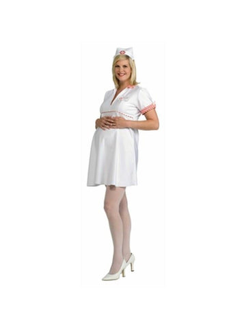 Adult White Nurse Marternity Costume