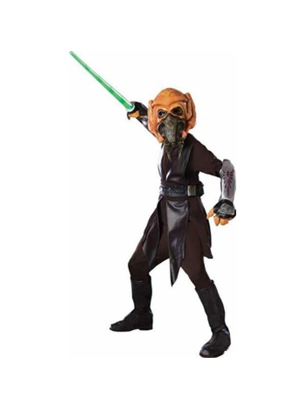 Childs Clone Wars Deluxe Child Plo Koon Costume-COSTUMEISH