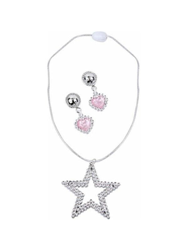 Childs Sharpay Costume Necklace and Earrings Set-COSTUMEISH