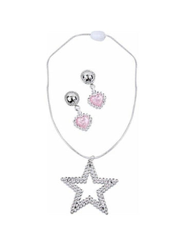 Childs Sharpay Costume Necklace and Earrings Set