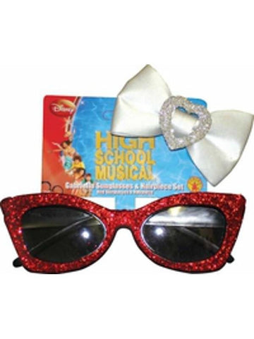 Childs Gabriella Costume Sunglasses And Hairpiece Set-COSTUMEISH