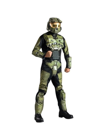 Adult Deluxe Halo Masterchief Spartan Costume-COSTUMEISH