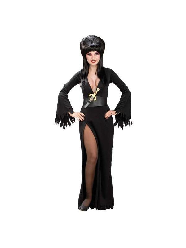 Adult Deluxe Sexy Elvira Costume-COSTUMEISH
