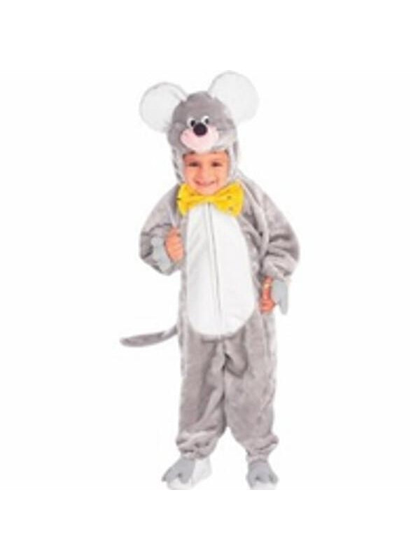 Child's Plush Grey Mouse Costume-COSTUMEISH