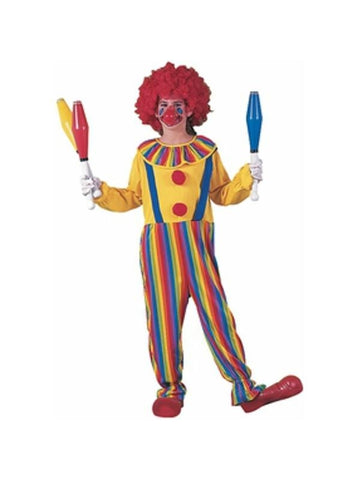 Childs Rainbow Clown Costume-COSTUMEISH
