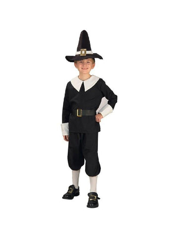 Child's Pilgrim Boy Costume-COSTUMEISH