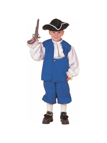 Child's Blue Colonial Boy Costume-COSTUMEISH