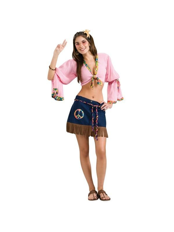 Adult Sexy Hippie Chick Costume-COSTUMEISH