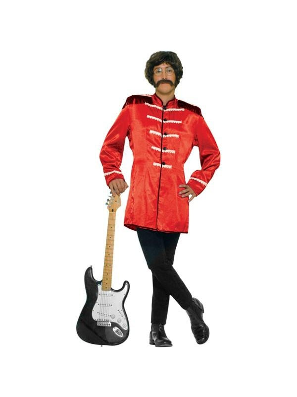 Adult Red Sgt Pepper Beatles Costume Jacket-COSTUMEISH