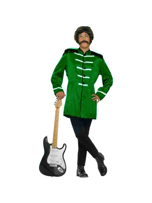 Adult Green Sgt Pepper Beatles Costume Jacket-COSTUMEISH