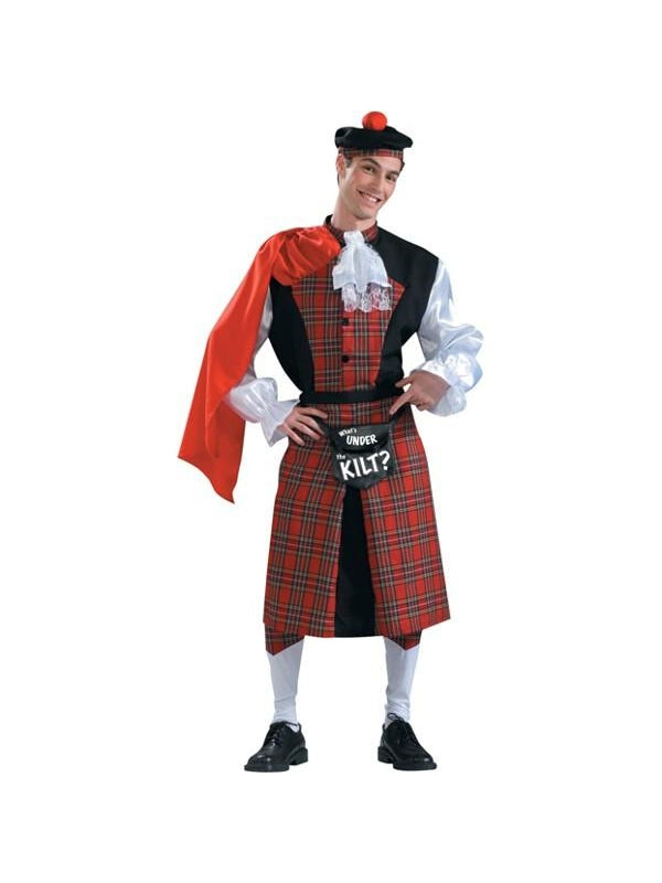 Adult Scottish Kilt Funny Men's Costume-COSTUMEISH