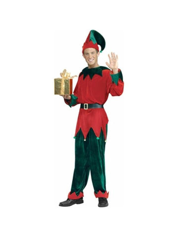 Adult Deluxe Santas Helper Costume-COSTUMEISH