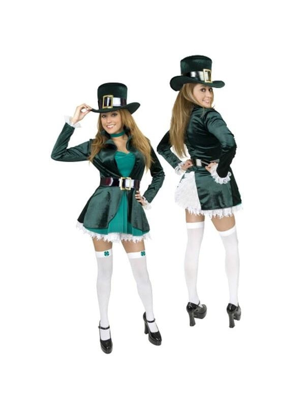Adult Sexy Leprechaun Costume-COSTUMEISH