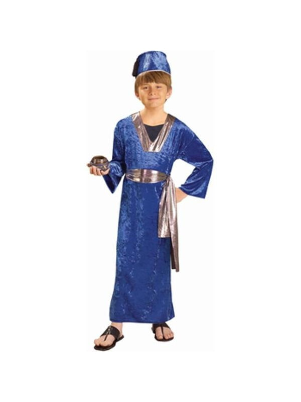 Childs Blue Wise Man Biblical Costume-COSTUMEISH