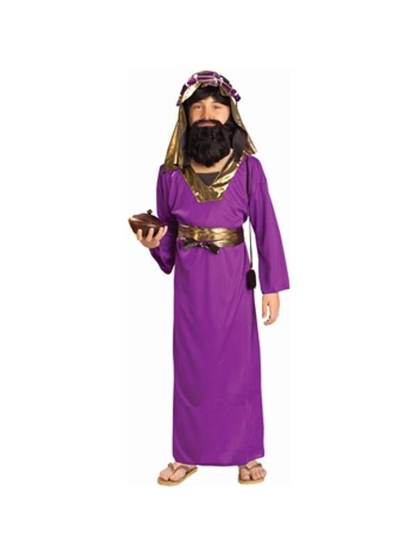 Childs Purple Wise Man Biblical Costume-COSTUMEISH