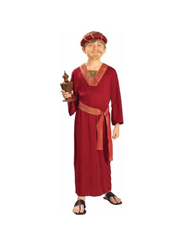 Childs Burgundy Wise Man Biblical Costume