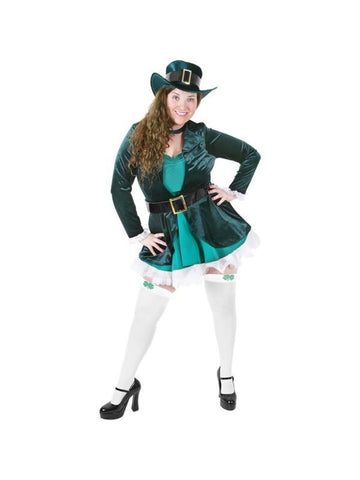 Adult Plus Size Sexy Leprechaun Costume