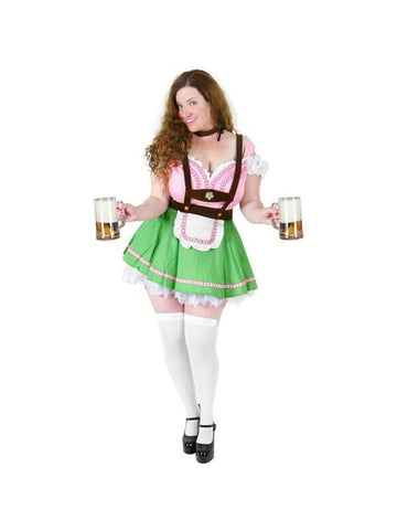 Adult Plus Size Sexy Bavarian Beer Garden Girl Costume-COSTUMEISH