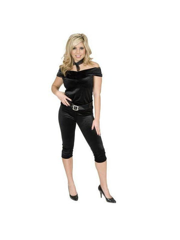 Adult 50s Black Velvet Costume-COSTUMEISH