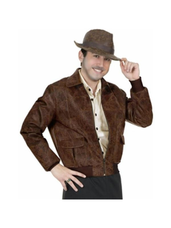 adult deluxe indiana jones jacket costume costumeish cheap adult halloween costumes fast. Black Bedroom Furniture Sets. Home Design Ideas