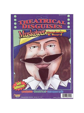 Adult Musketeer Costume Moustache-COSTUMEISH