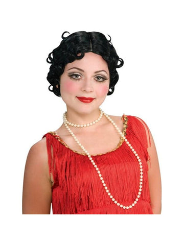 Adult Black Flapper Betty Boop Wig-COSTUMEISH