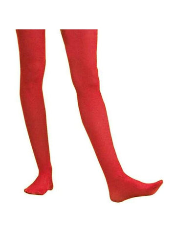 Adult Solid Red Nylon Tights