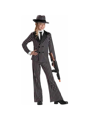 Child's Mafia Gangster Girl Costume-COSTUMEISH