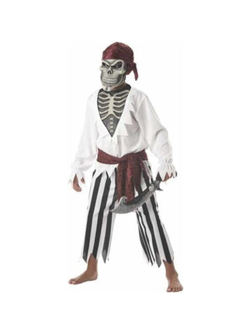 Child's Scary Skeleton Pirate Costume-COSTUMEISH