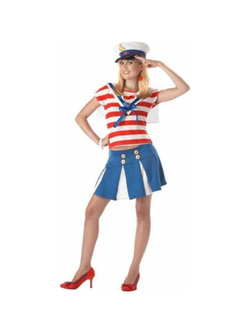 Teen Cruise Ship Cutie Sailor Costume-COSTUMEISH