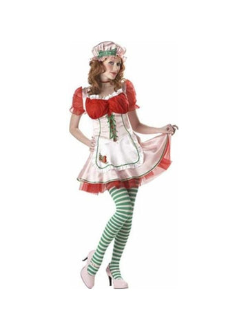 Adult Strawberry Patch Girl Costume-COSTUMEISH