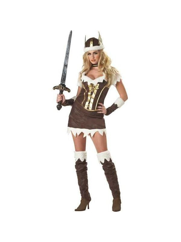 Adult Deluxe Sexy Viking Vixen Costume-COSTUMEISH