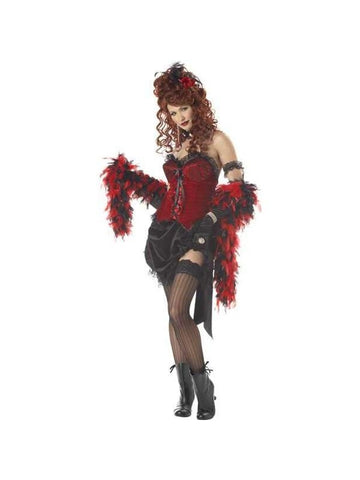 Adult Saloon Girl Costume-COSTUMEISH