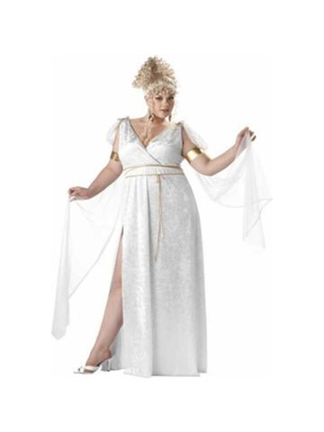 Adult Plus Size Athenian Goddess Costume-COSTUMEISH