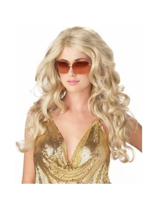 Woman's Blonde Sexy Super Model Wig-COSTUMEISH
