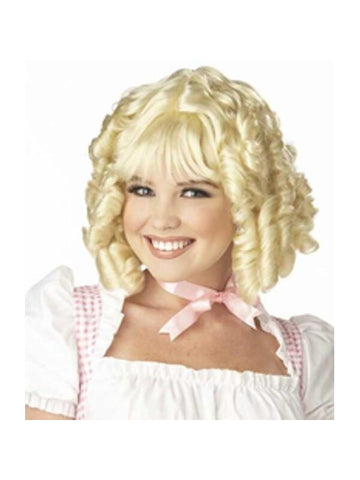 Woman's Blonde Miss Muffet Costume Wig-COSTUMEISH