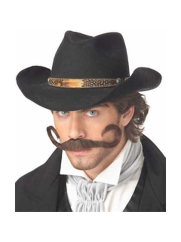 Adult Gunslinger Cowboy Costume Moustache-COSTUMEISH