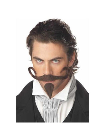 Adult Western Gambler Moustache And Goatee-COSTUMEISH
