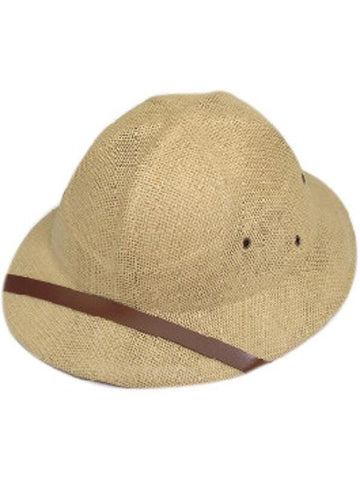 Adult Tan Safari Pith Helmet Hat-COSTUMEISH