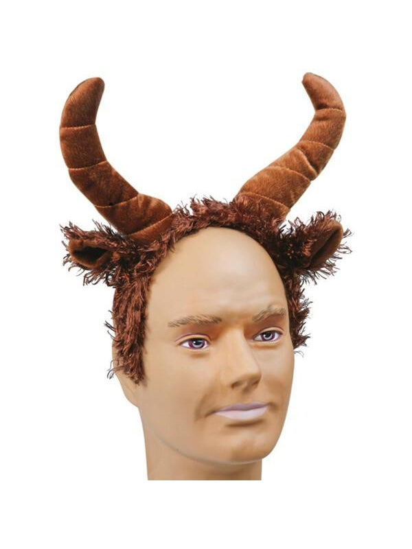 Adult Buffalo Headband with Ears and Horns-COSTUMEISH