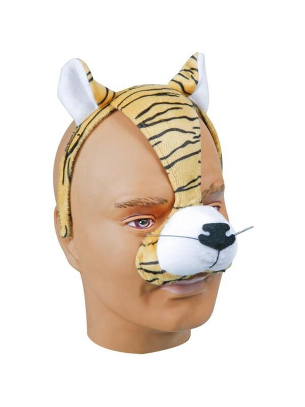 Adult Tiger Headband with Ears and Nose-COSTUMEISH
