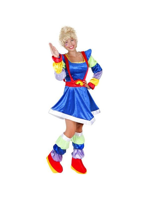 Adult Magic Rainbow Diva Costume-COSTUMEISH