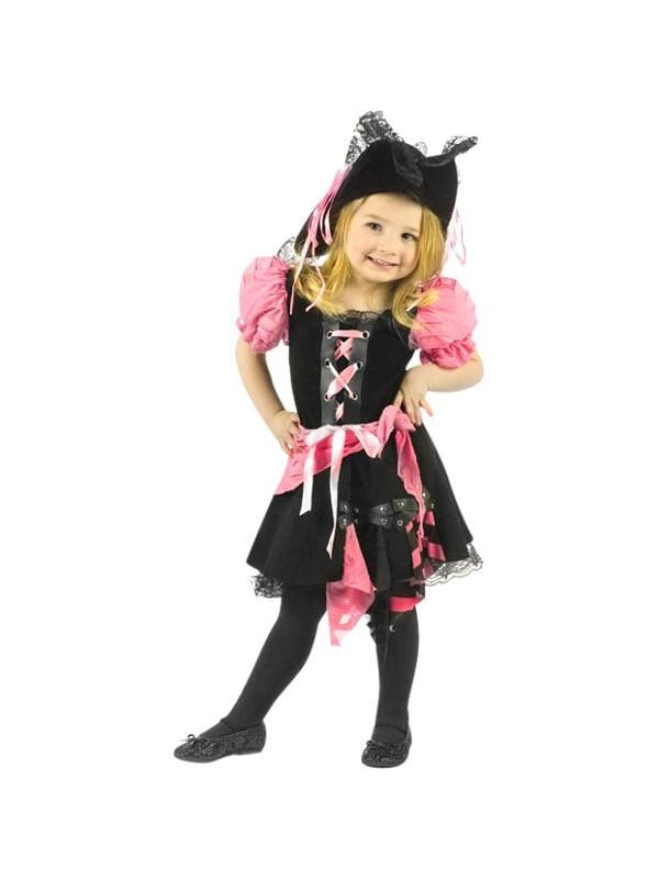 Toddler Pink Punk Pirate Costume-COSTUMEISH