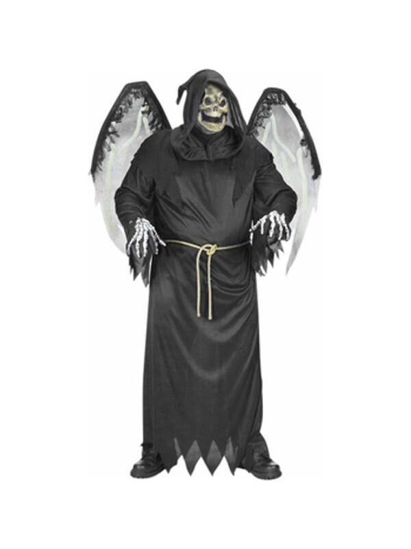 Adult Plus Size Winged Reaper Costume-COSTUMEISH