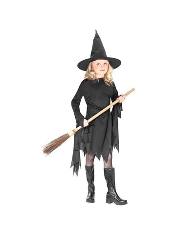 Childs Classic Black Witch Costume-COSTUMEISH