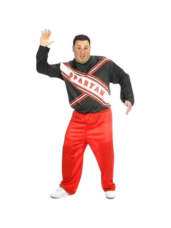 Adult Plus Size Spartan Male Cheerleader Costume-COSTUMEISH