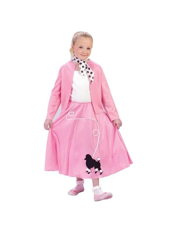 Childs Grease Poodle Skirt And Sweater Costume-COSTUMEISH