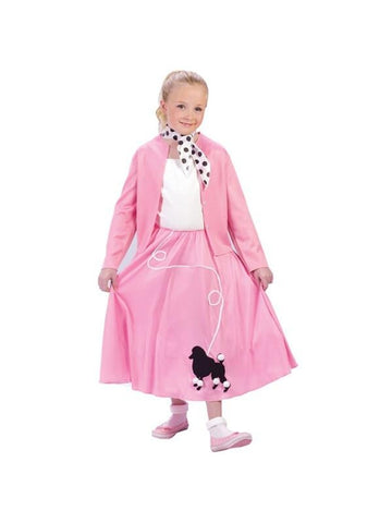 Childs Grease Poodle Skirt And Sweater Costume